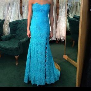 Blue/aqua prom dress!